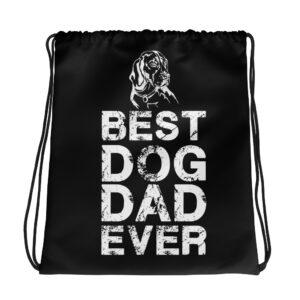 Best Dog Dad Ever Drawstring bag
