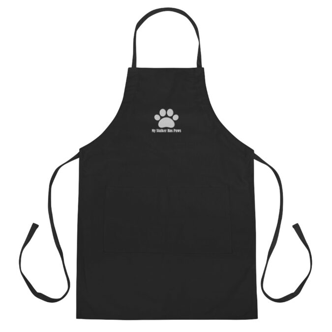 My Stalker Has Paws Embroidered Apron