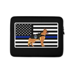 Thin Blue Line K9 Dog Laptop Sleeve