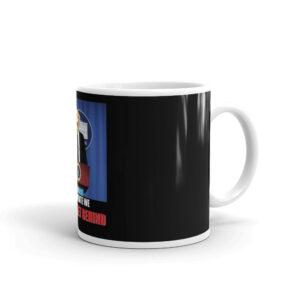 Dog For President White glossy mug