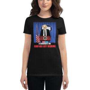 Dog For President Women's short sleeve t-shirt