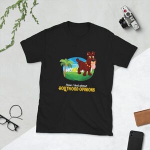 Hollywood Opinions Don't Matter Dog Peeing Short-Sleeve Unisex T-Shirt